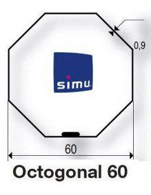 Simu 9521040 - Bagues Octogonales 60 moteur Simu T5 - Dmi5