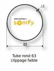 Somfy 9410338 -  Bagues Rond 63 Clippage faible moteur Somfy LT50 et LT50 CSI