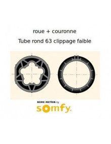 Bagues Rond 63 Clippage faible moteur Somfy LT50 et LT50 CSI