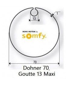 Somfy 9410421 - Bagues Donher 70 goutte 13 moteur Somfy LT50 et LT50 CSI
