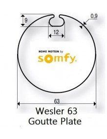 Somfy 9410409 - Bagues Wesler 63 moteur Somfy LT50 et LT50 CSI