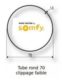 Somfy 9410350 -  Bagues Rond 70 Clippage faible moteur Somfy LT50 et LT50 CSI