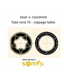Bagues Rond 70 Clippage faible moteur Somfy LT50 et LT50 CSI