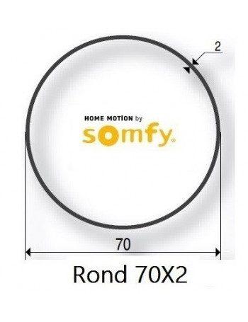 Bagues Rond Lisse 70x2 moteur Somfy LT50 et LT50 CSI