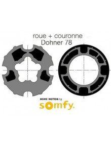 Bagues Donher 78 goutte 12 moteur Somfy LT50 et LT50 CSI