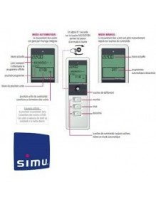 Telecommande Simu Timer Easy 1 canal Grise