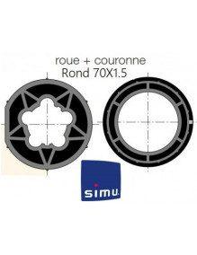 Bagues Rond lisse 70x1,5 moteur Simu T5 - Dmi5