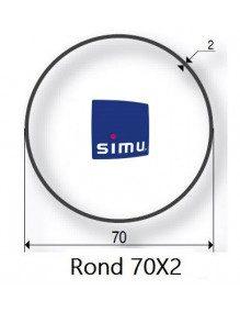 Bagues Rond lisse 70x2 moteur Simu T5 - Dmi5