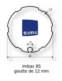Simu 9521013 - Bagues Imbac 85 goutte 12 moteur Simu T5 - Dmi5