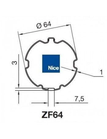 Bagues ZF64 moteur Nice Era M et MH
