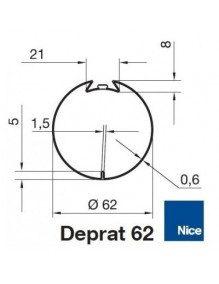 Nice 515.26200 - Bagues Deprat 62 moteur Nice Era M et MH