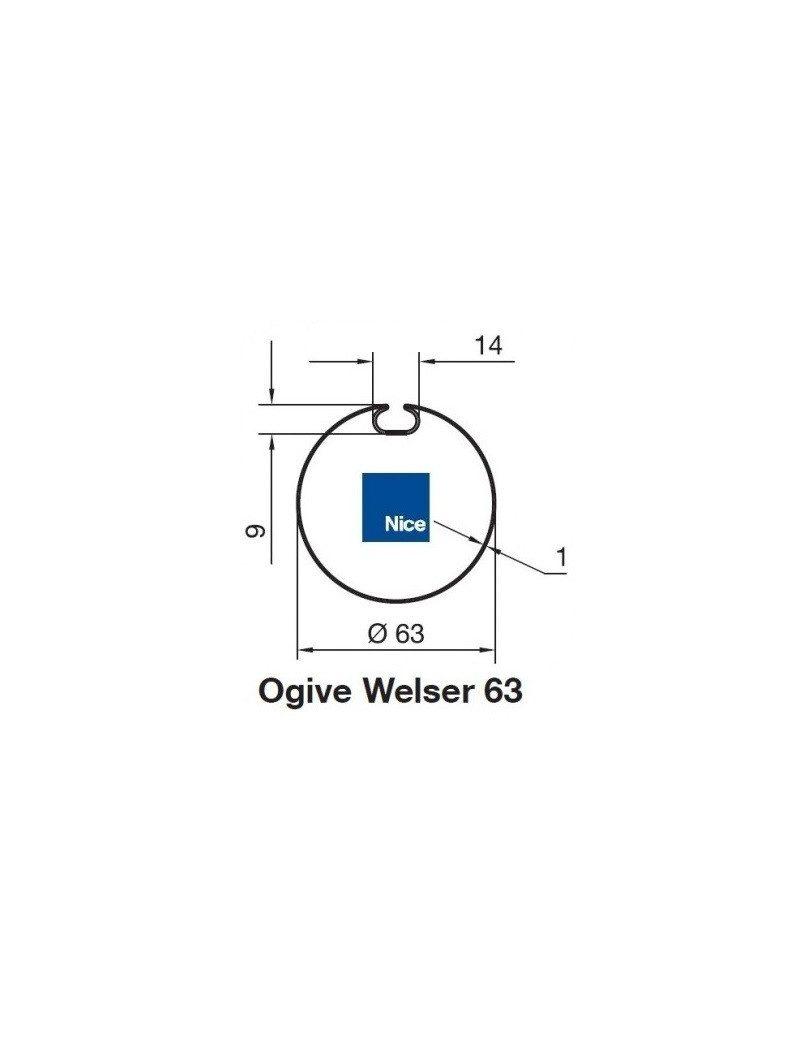 Bagues Ogive Wesler 63 moteur Nice Era M et MH