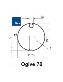 Nice 515.17801 - Bagues Ogive 78 moteur Nice Era M et MH