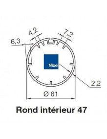 Bagues Rond intérieur 47 moteur Nice Era M et MH