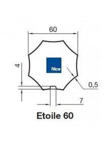 Nice 515.06010 - Bagues Octo étoile 60 moteur Nice Era M et MH