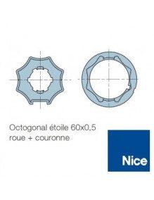 Bagues Octo étoile 60 moteur Nice Era M et MH