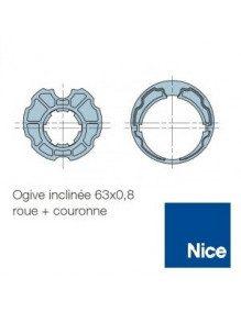 Bagues Ogive inclinée 63 moteur Nice Era M et MH