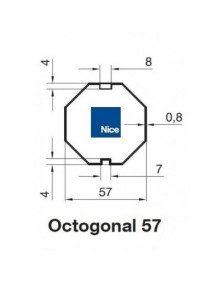 Nice 515.05700 - Bagues Octo 57 moteur Nice Era M et MH
