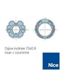 Nice 515.27300 - Bagues Ogive inclinée 70 moteur Nice Era M et MH