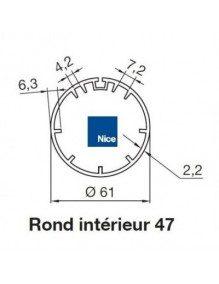Nice 515.25004 - Bagues Rond intérieur 47 moteur Nice Era M et MH