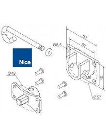 Nice 525.10091 - Support moteur Nice Era M débrayable
