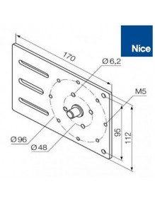 Nice 525.10021 - Support moteur Nice Era MH réglable