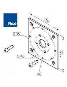 Nice 525.10060 - Support moteur Nice Era MH 112x112