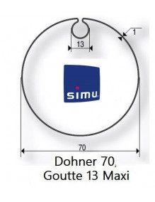 Simu 9521004 - Bagues Donher 70 goutte 13 moteur Simu T5 - Dmi5