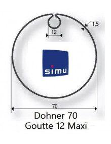 Simu 9521005 - Bagues Donher 70 goutte 12 moteur Simu T5 - Dmi5
