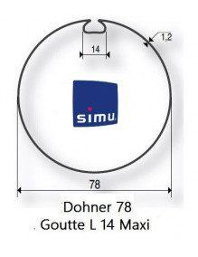 Simu 9521007 - Bagues Donher 78 goutte 14 moteur Simu T5 - Dmi5