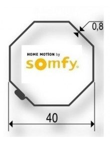 Somfy 9500398 - Bagues Imbac Octogonal 40 moteur Somfy LS40