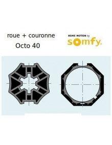 Somfy 9500387 - Bagues Octogonal 40 moteur Somfy Ls40