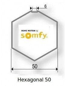Somfy 9410413 - Bagues Hexagonal 50 moteur Somfy LS40