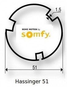 Somfy 9500365 - Bagues Hassinger 51 moteur Somfy LS40