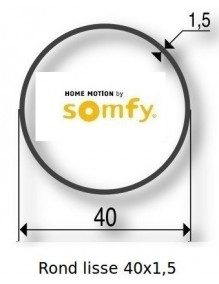 Somfy 9500411 - Bagues Rond lisse 40x1.5 moteur Somfy LS40