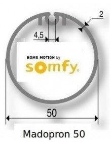 Somfy 9500422 - Bagues Madopron 50 moteur Somfy LS40