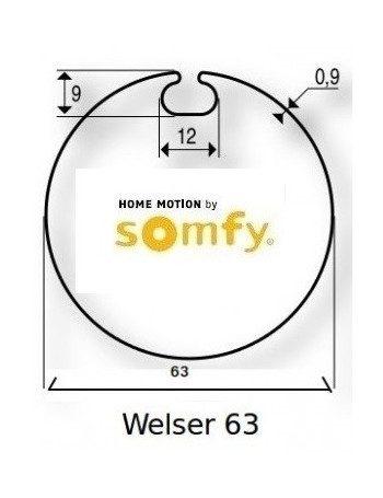 Somfy 9500342 - Bagues Welser 63 moteur Somfy Ls40