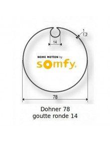 Somfy 9420326 - Bagues Donher 78 goutte 14 ronde moteur Somfy LT60 - LT60 CSI