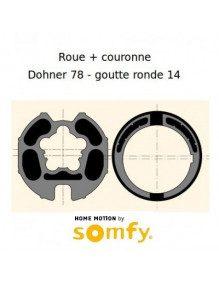 Bagues Donher 78 goutte 14 ronde moteur Somfy LT60 - LT60 CSI