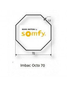 Somfy 9420335 - Bagues Octogonal 70 moteur Somfy LT60 - LT60 CSI