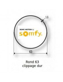 Somfy 9420367 - Bagues Rond lisse 63 clippage dur moteur Somfy LT60 - LT60 CSI