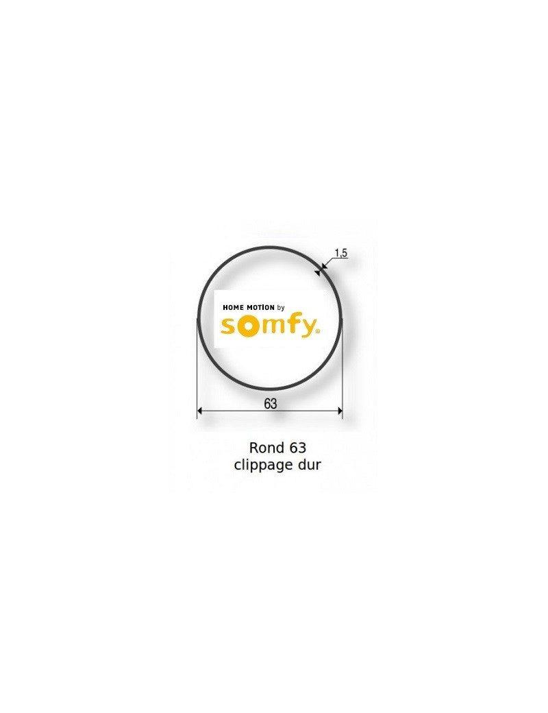 Bagues Rond lisse 63 clippage dur moteur Somfy LT60 - LT60 CSI