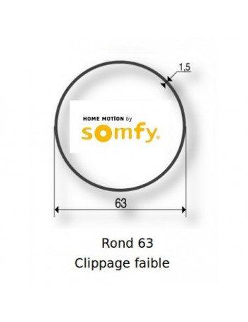 Bagues Rond lisse 63 clippage faible moteur Somfy LT60 - LT60 CSI