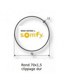 Bagues Rond lisse 70 clippage dur moteur Somfy LT60 - LT60 CSI