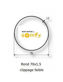 Bagues Rond lisse 70 clippage faible moteur Somfy LT60 - LT60 CSI