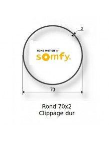 Bagues Rond lisse 70x2 clippage dur moteur Somfy LT60 - LT60 CSI