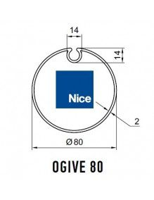Nice 515.17802 - Bagues Ogive 80 moteur Nice Era M et MH