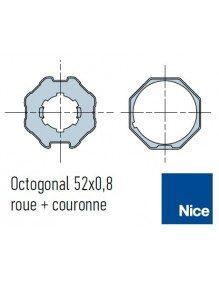 Bagues Octogonal 52 moteur Nice Era M et MH