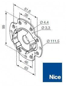 Nice 535.10043 - Support moteur Nice Era M compact en plastique
