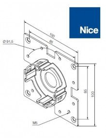 Support moteur Nice Era M compact 45°
